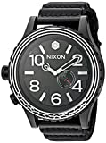 Nixon Men's 'Star Wars Kylo' Swiss made quartz Leather Casual Watch, Color Black (Model: A1063SW2444-00)