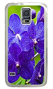 Samsung S5 case spec Purple Flower 02 PC Transparent Custom Samsung Galaxy S5 Case Cover