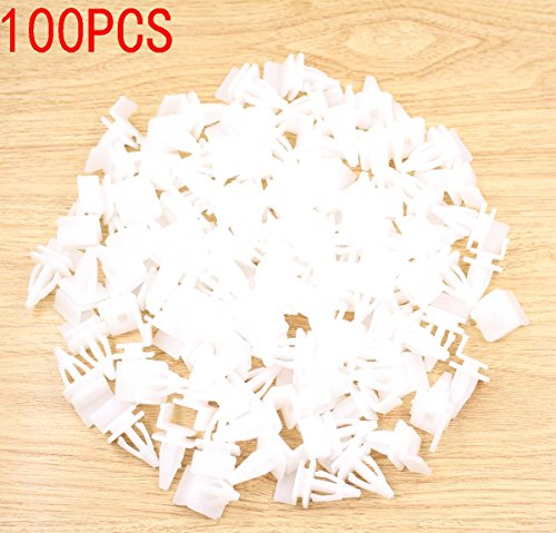 GooDeal 100pcs Side Skirt Sill Seal Panel Mounting Trim Clip 91513SM4000 for Honda Accord Civic (Civic Skirt)