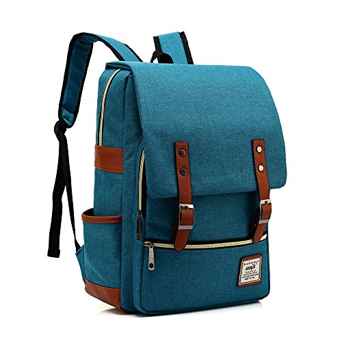 HITOP College Backpack, Vintage Fashion Laptop Travel Bag for Women Men Fits 15.6 Inch Laptop and Notebook (Deep (Best Hitop Backpacks For Women)