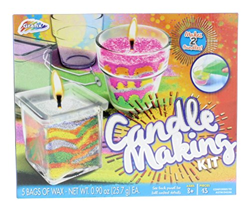 Grafix Candle Making Kit - Unique Candles with 5 Bags of Colored Wax
