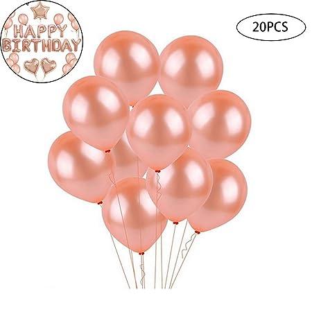 Hilai 20PCS / Decoración Party Pack Oro Rosa Globos de látex ...