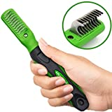 K9KONNECTION Dematting Comb Tool, Small Teeth Stop Shedding Rake Grooming Tool - Dematting Brush Easily Removes Mats, Knots & Tangles Quickly - Professional Mat Splitter Pet Brush for Dogs & Cats