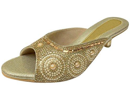 Step n Style Damen Sandalen Gold Gold WDPJygdv6