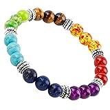 SUNYIK Semi Precious Stone Bracelet,Chakra Ctystal Healing,Balancing Reiki,Yoga Jewelry
