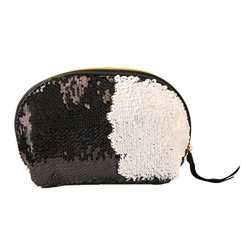 Lavany Double Zipper Women Women Cluthes Wallet Bag Handbag Bag Color Sequins for Black ZwZrtqC