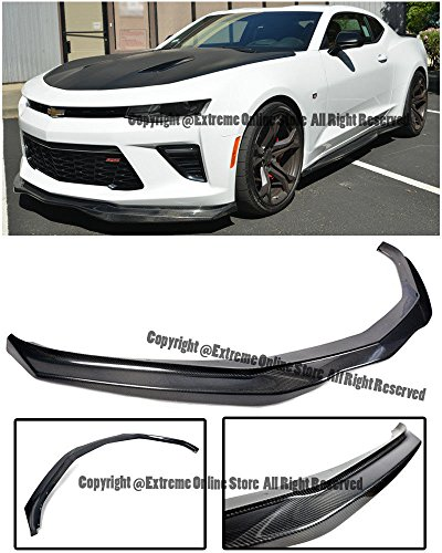 EOS Carbon Fiber Body Kit Front Bumper Lip Splitter - For Chevrolet Chevy Camaro SS 16-UP 2016 2017 2018 Z06 Style ()