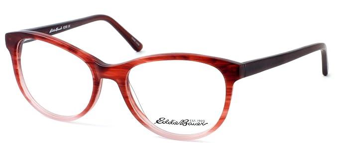 Amazon.com: Eddie Bauer Designer Reading Glass Frames EB8295 in ...