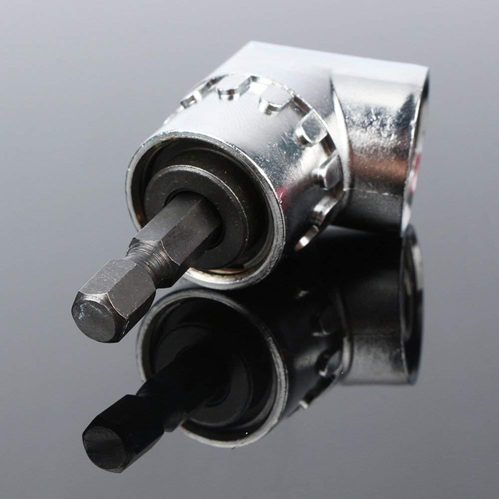 Adaptateur de visseuse dangle de 105 /° Cl/é /à douille Douille universelle de 7 /à 19 mm Kit adaptateur pour visseuse sans fil