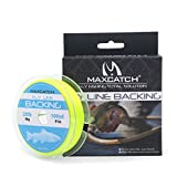 Maxcatch Fly Line Backing for Fly Fishing Braided Different Color 20/30lb 100yards (Yellow, 20lb) For Sale