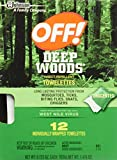 Off! Deep Woods Insect Repellent Towelettes 12ea