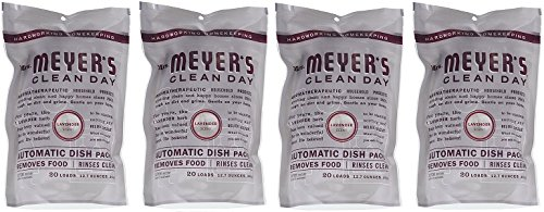 Mrs. Meyers.. Clean Day Automatic Dish Packs, Lavender, 20 ct, 3 un (4-(Pack))