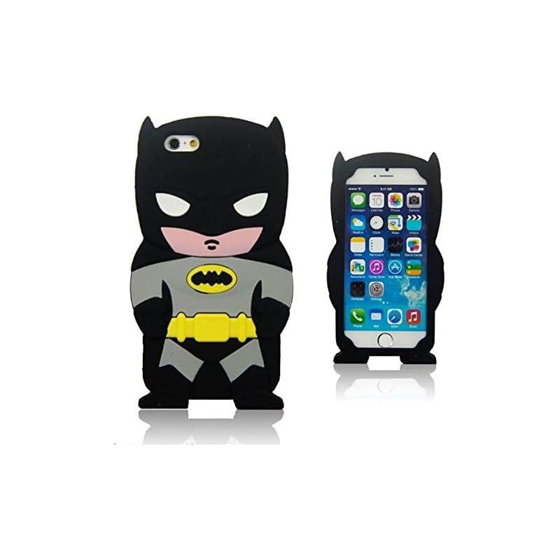 Soft Silicone 3D Black Batman Case for i