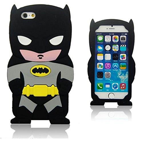 Soft Silicone 3D Black Batman Case for iPhone 5 5s SE Super Hero Black Gray Color Rubber Shockproof Shock Absorption Drop Resistant Protective Cartoon Cute Hot Hot Lovely Gift Girls Teens Boys Guys