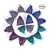 MISSYOUNG 16-Pack Lavender Scented Sachets for Drawers, Cabinets, Wardrobes, Pillows, Cars with Natural Fragrance