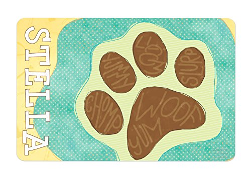 Dog Food Mat Dog Lovers Gift Personalized