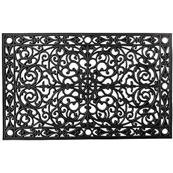 Amazon Com Imports Decor Rubber Doormat Brooklyn 24