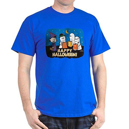CafePress The Peanuts Gang Happy Halloween Dark T Shirt 100% Cotton T-Shirt]()