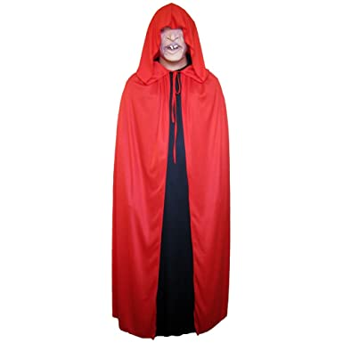 54 red cloak with large hood halloween costume cape - Halloween Costumes With A Cape