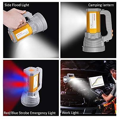 Super Bright Rechargeable Handheld LED Spotlight Flashlight Searchlight Handheld High Power