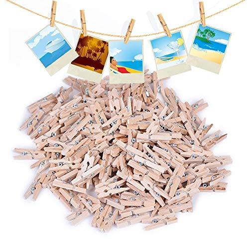 Hamburger Decor - 100 Pcs 25mm Food Bag Clips Mini Wood Clothes Photo Paper Peg Pin Clothespin Craft Household - Assorted That Bulk Freezer Sticks Gold Basics Kitchenaid Small Long Clips Rose Jo ()
