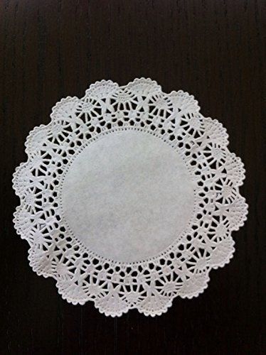 Perfect for embellishing packages 4 inch decorating packaging baked goods 200 White Round Paper Lace Doilies