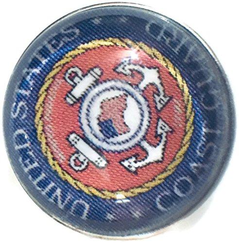 - US Military Coast Guard Medallion 18MM - 20MM Fashion Snap Jewelry Snap Charm