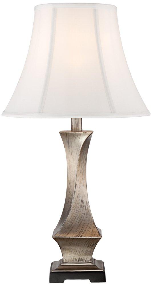 Lydia Silver Leaf Twist Table Lamp