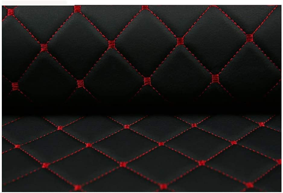 Color : Black Diamond, Size : 1.43/×1m Leather Quilted Leather Diamond Stitch Padded Cushion Linen Wadding Faux Leather Interior Vehicle Upholstery Fabric Black