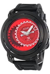 Ritmo Mundo Men's 202/3 Red Black Persepolis Dual-Time Exhibition Automatic Watch