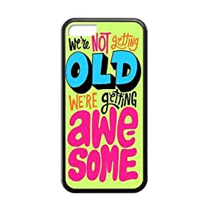 LJF phone case We Are Not Getting Old We Are Getting Awesome Gorgeous Rubber Case Cover for ipod touch 4