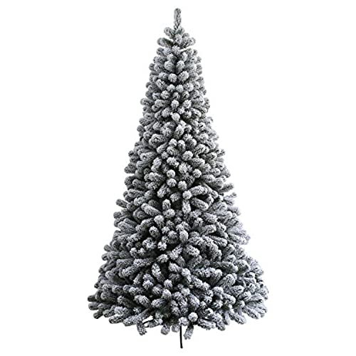 king of christmas 6 foot prince flock artificial christmas tree unlit flocked - Artificial Christmas Trees Amazon