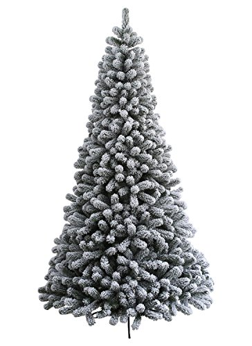 KING OF CHRISTMAS 6 Foot Prince Flock Artificial Christmas Tree Unlit, Flocked (Trees Christmas Flocked)