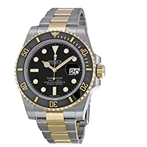Best Epic Trends 51AgInOuE-L._SS300_ Rolex New Submariner 116613 Yellow Steel Gold Ceramic Black Box/Paper/WTY #RL81