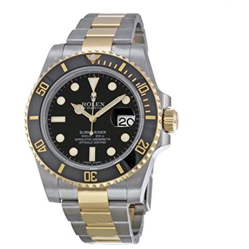 Rolex New Submariner 116613 Yellow Steel Gold Ceramic Black Box/Paper/WTY #RL81