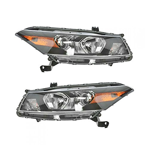 Front Headlights Headlamps Lights Lamps Pair Set for 08-10 Honda Accord Coupe