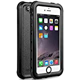 iPhone 5S Best Waterproof Case, Waterproof, Dust Proof, Snow Proof, Shock Proof Case with Touched Transparent Screen Protector, Heavy Duty Protective Carrying Cover Case for iPhone 5 5s(T-Black)