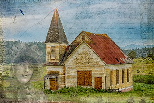 Memory of the Old Church. Fine Art Digital Art Photography Print for Home Decor Wall (Food Photographic Memory)