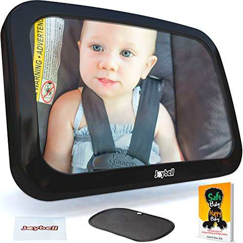 Baby Car Mirror for Back Seat, Strong Clamp Attachment New for 2018 - View Infant in Rear Facing Car Seat – Safest Design – Crash Tested – With Sunshade, Babyproofing - Best Sunglasses The On Market