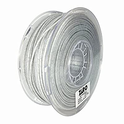 ZIRO 3D Printer Filament PLA 3.0mm(2.85mm) Marble Color 1KG(2.2lbs) - White