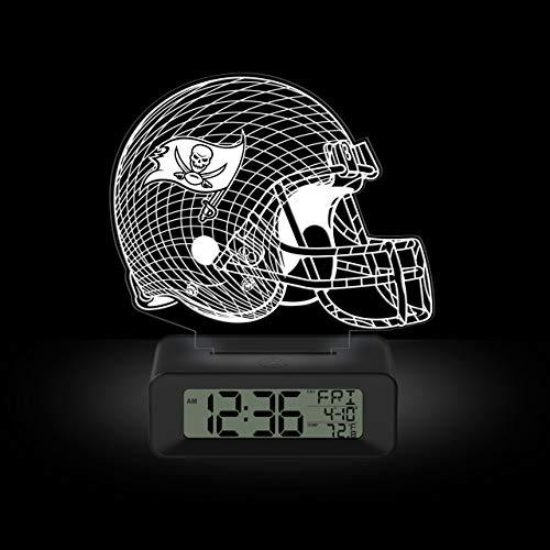 Game Time NFL Team Logo LED 3D Illusion Alarm Clock Tampa Bay Buccaneers