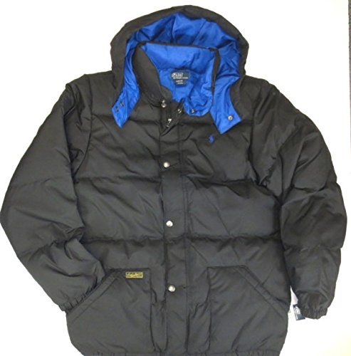 cdfa13d922dc Ralph Lauren Polo Boys Youth Puffer Down Jacket with Detachable Hood XL  (18-20)  Amazon.co.uk  Clothing