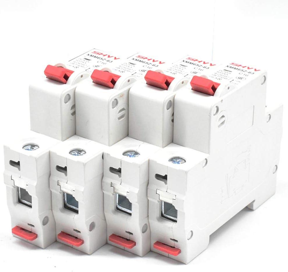 Meiyiu DC MCB Interruptor de Aire de bater/ía fotovoltaica de Corriente Continua DC 2P Disyuntor 6A