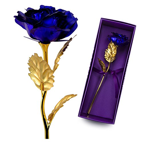 UniteStone-Monther-Day-Gift-24K-Gold-Foil-Artificial-Rose-Flower-Birthday-Gift-Valentines-Day-Gift-Anniversary-Gift