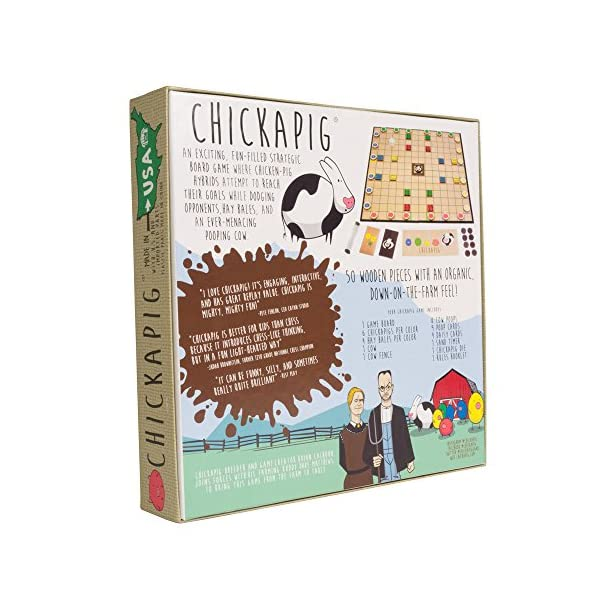 Chickapig-Board-Game-A-Strategic-Board-Game-Where-Chicken-Pig-Hybrids-Attempt-to-Reach-Their-Goal-While-Dodging-Opponents-Hay-Bales-and-an-Ever-Menacing-Pooping-Cow