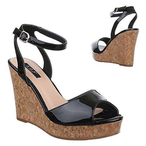 Design Noir Sandales Ital femme Noir 0wdxIx