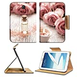 Samsung Galaxy Note 8.0 Tablet Flip Case Spa theme with candles and flowers on wooden background IMAGE 35836449 by MSD Customized Premium Deluxe Pu Leather generation Accessories HD Wifi Luxury Protec