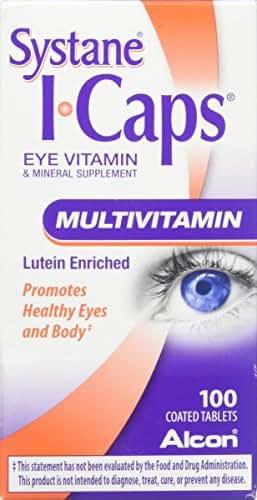 Systane ICaps  Eye Vitamin & Mineral Supplement, Multivitamin Formula, 100 Coated Tablets