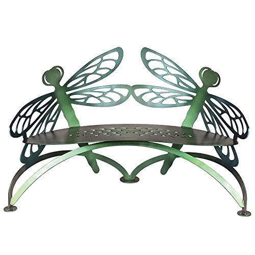 Dragonfly Bench - Dragonfly Bench Color Shift - Cricket Forge - Outdoor Metal Furniture
