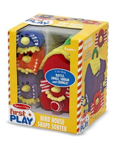 Clever Birdhouse - Melissa & Doug Bird House Shape Sorter Soft Baby and Toddler Toy With Handle